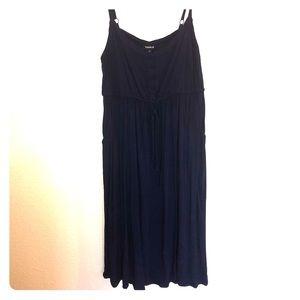 Torrid Navy Blue Sleeveless Skater Dress